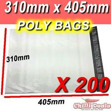 200 310X405mm POLY BAGS MAILER PLASTIC COURIER SATCHEL seal BAG MAILING SHIPPING
