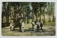 Postcard Kids Drinking Fountains at Central Park Allentown Pennsylvania 1915