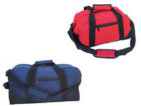 Duffle Bag Two-Toned Sports Gym Travel Bag in Navy Blue/Black and Red/Black 21""