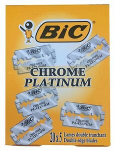 100 BIC Chrome double edge razor blades
