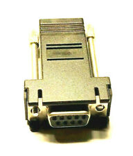 RJ45 to RS232 DB9 9 Pin Serial Port F/F Cat 5 Ethernet Adapter Networking