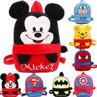 Toddler Kid Children Boy Girl 3D Plush Cartoon Animal Backpack School Bags Gifts