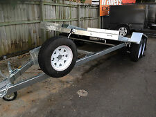 GALVANISED HYDRAULIC TILT CAR TRAILER 2.9T - NO RAMPS REQUIRED