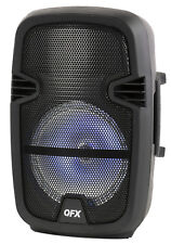 "QFX PBX-8074 8"" Battery Powered Portable Bluetooth Party Speaker - Black"