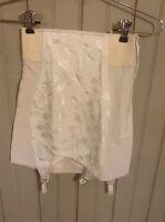 Vintage white Best Form open Bottom girdle w/ garters & side zipper sz 26