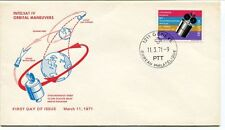 1971 Intelsat IV Orbital Manuevers First Day Issue Synchronous Orbit Geneve NASA