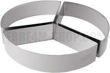 Set anelli per torte componibili a tre spicchi in acciaio inox diametro cm. 22