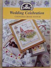 § DMC fascicule grilles point de croix P5042 WEDDING CELEBRATION (MARIAGE)