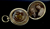 Victorian Locket Pendant Fob Hinged Gold Filled Aesthetic Mourning Hair C.1880s