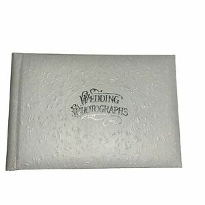 Vintage Hallmark Keepsake Wedding Photograph Album 4x6, 4x5 Holds 20 Pictures