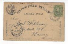 1887 Vera Cruz Mexico 5c Postal Card to Hannover Germay