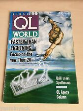 Sinclair QL World Magazine ~ july 1987 ~ Computer Articles ~ GOOD CONDITION