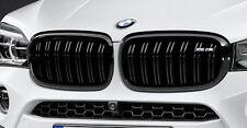 BMW 2014+ F15 F85 X5 M OEM X5 M Performance Front Gloss Black Grille Pair NEW