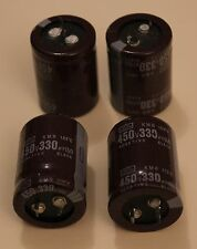 LOT DE 4 CONDENSATEURS  NIPPON-CHEMICON 330 µF 450 V