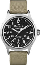 T49962 Timex Expedition Metal Scout Mens Watch Black Dial Tan Beige Nylon Strap