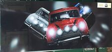 """Mini Coopers fantastic design  48"""" x 20"""" Canvas print On A Wooden Stretcher"""