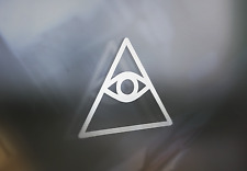 Illuminati All Seeing eye Decal Sticker For Car Window or Bumper Placement