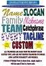 Personalised Custom Glitter Vinyl Iron on transfer Sparkle Choose Colours & Font