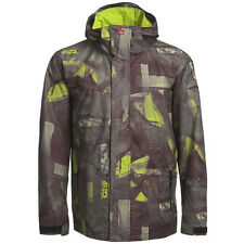 QUIKSILVER Men's LAST MISSION Prints Snow Jacket - BUR - Size XSmall - NWT