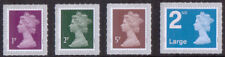 2018 Machin u/m stamps new Walsall printing 1p, 2p, 5p and 2nd class Large M18L