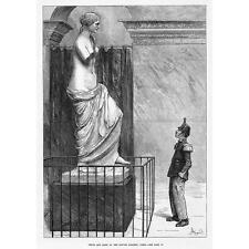 PARIGI Venere e Marte al Louvre Gallery-antica stampa 1880