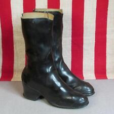 Vintage 1930s Bf Goodrich Rain Boots Galoshes Black Rubber Size 4.5 New Nos