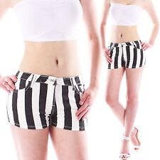 Niedrige Kurze Gestreifte Damen-Shorts & -Bermudas im Freizeit-Stil