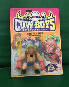 "1991 WILD WEST COW-BOYS ""BUFFALO BULL"" NIC BY HASBRO"