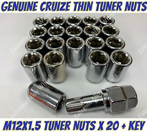 Alloy Wheel Nuts Tuner Nuts x 20 M12x1.5 Chrysler 200 300m Cirrus Grand Voyager