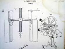 ASTRONOMIA,STRUMENTI,SCIENZA,STUDIO,TELESCOPIO,OSSERVATORIO,INCISIONE ANTICA