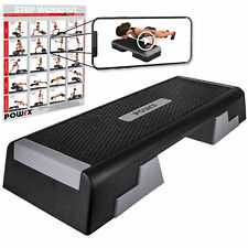 Profi Aerobic Fitness Step inkl. Workout I Steppbrett Stepbench verstellbar