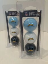SAN DIEGO CHARGERS NFL FOOTBALL SPORTS 3PK GOLF BALLS