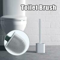 Silicone Toilet Brush Set with Bathroom Brushs Holders Creative Cleaning Tools