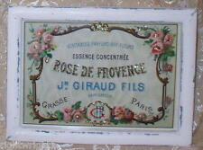 Shabby Vintage Wood White Frame Pink Rose Perfume Ad Print Chic Cottage Decor