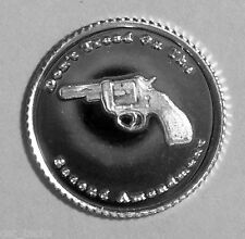 (50) 1 GRAM .999 PURE SILVER 38 SPECIAL DON'T TREAD ON OUR 2ND AMENDMENT ROUND