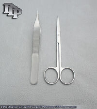2 Pcs Dog Ear Suture Kit Surgical Veterinary DDP Instruments