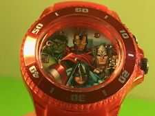 MARVEL AVENGERS WATCH LIGHTS UP WRISTWATCH CAPTAIN AMERICA HULK THOR IRONMAN RED