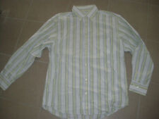 Chemise 15 SERGE BLANCO rayée blanche taille L