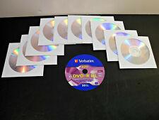 10 VERBATIM DVD+R DL Dual Layer 8.5GB 8X Discs in Paper Sleeves