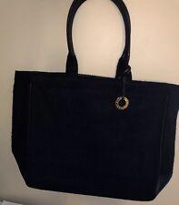 Givenchy Large Tote Bag Shopper Black Wool Gold Logo Charm a2343819d71e8