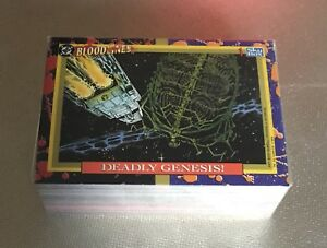 DC Bloodlines Complete 81 Trading Card Set DC Comics Collector Cards 1993 Skybox