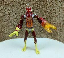 """Rare Ben 10 DNA Alien Heroes HEATBLAST Light-Up Head Bandai 6"""" Figure (2006)"""