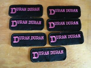 DURAN DURAN LOT OF 7 PATCHES 1980'S VINTAGE deadstock SHIRT CONCERT NEW WAVE