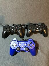 Nyko Wired PS3 Controller Lot of Black & Blue (3) Free Ship