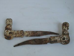 Antique Cast Iron French Girl Shutter Stays