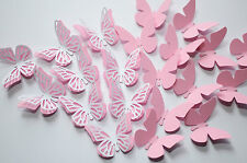 16 Set 3D Schmetterlinge Rosa Wandtattoo Wanddeko