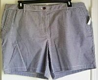 """NEW WITH TAGS! TALBOTS 7"""" Relaxed Chino Gingham Shorts-Plus 18W-B/W"""
