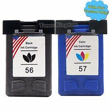 2PK Inkjet Printer For HP 56 57 Ink Cartridge C6656A C6657A Combo Pack Quality