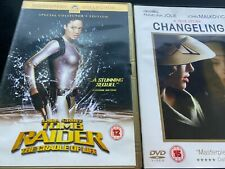 Tomb raider the cradle of life & Changeling    dvd  Angelina Jolie