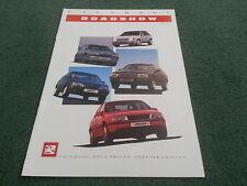 Oct 1988 / 1989 Edition 1 VAUXHALL ROADSHOW NOVA ASTRA CAVALIER SENATOR BROCHURE